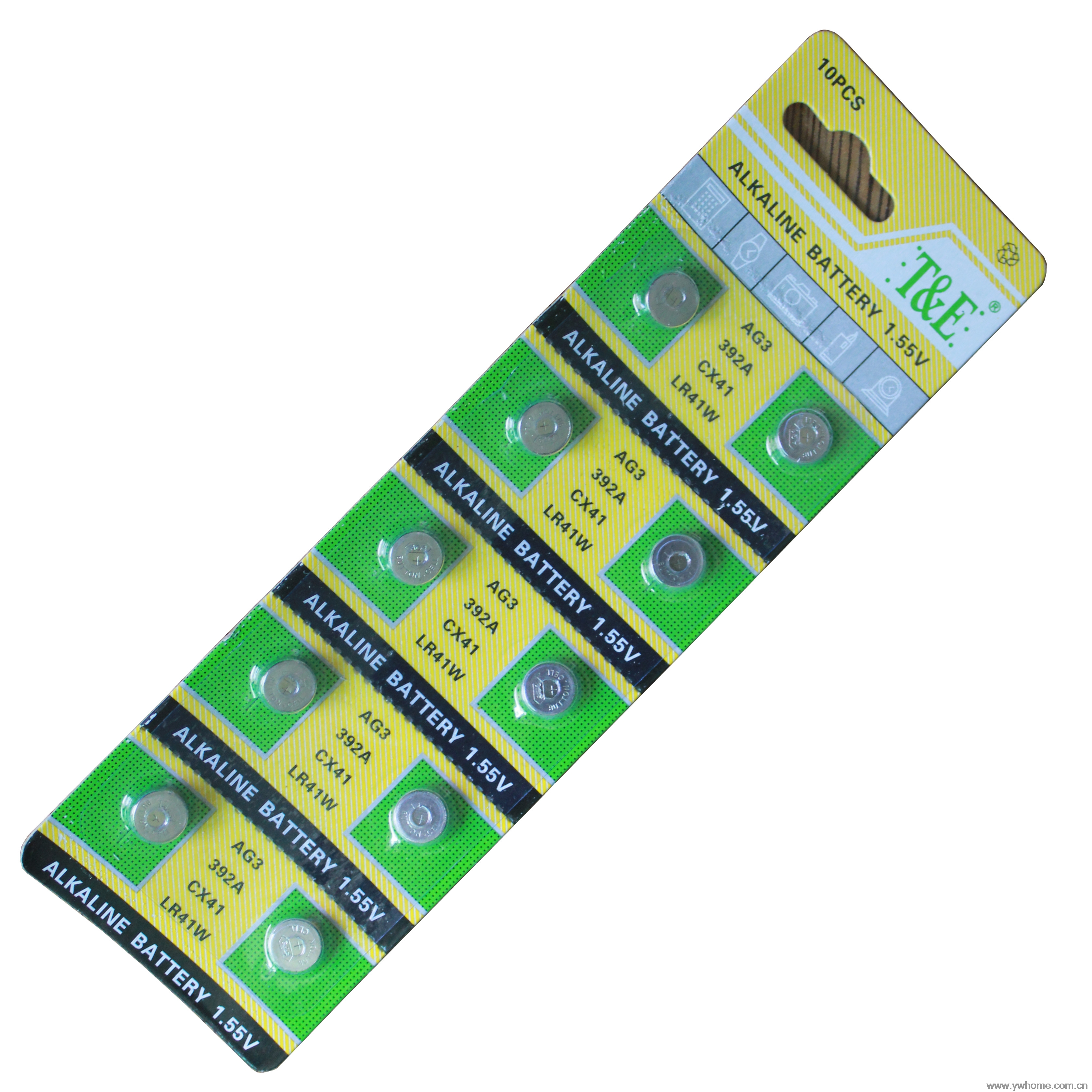 New T&E brand 10PCS AG3 LR41 392 SR41SW alkaline battery