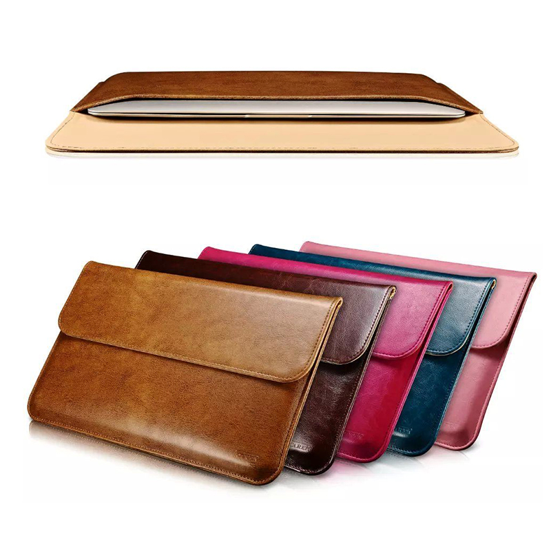 Buy luxury genuine leather sleeve for for Housse macbook pro 13
