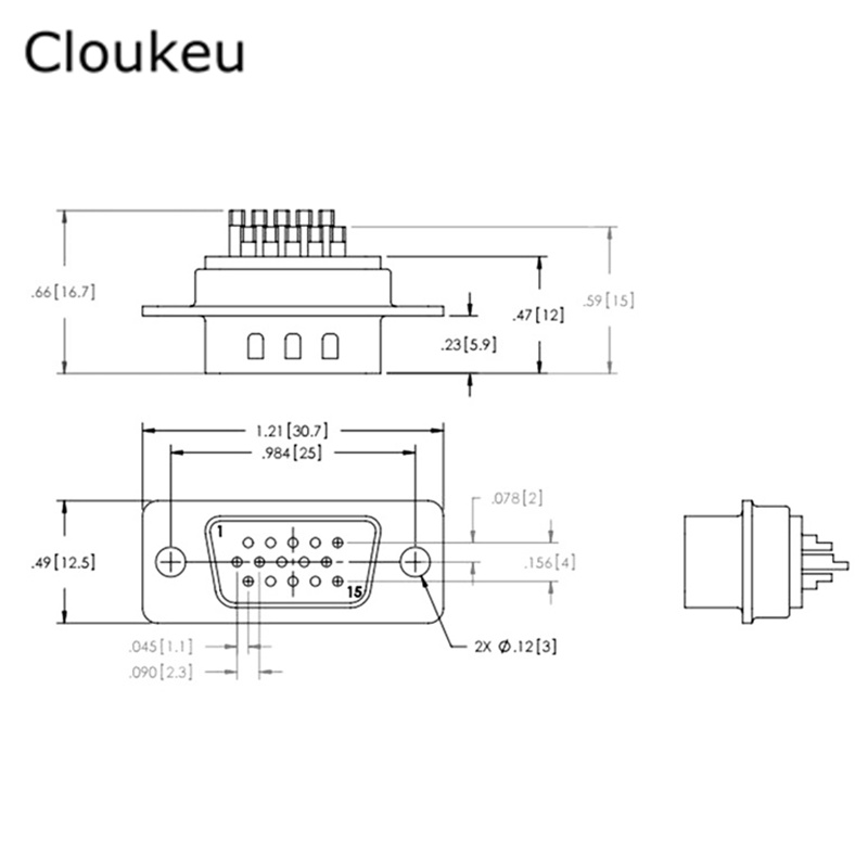 5Pcs DB15 Pin Male Welded Connector VGA plug serial port DB15 adapter 3 row foot db15 pinout diagram trusted schematics diagram