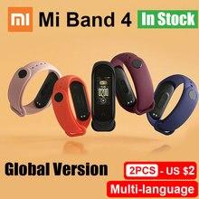 글로벌 버전 샤오미 mi Band 4 스마트 팔찌 심박수 피트니스 컬러 스크린 컨트롤 Bluetooth 5.0 mi band 4 중국어 버전