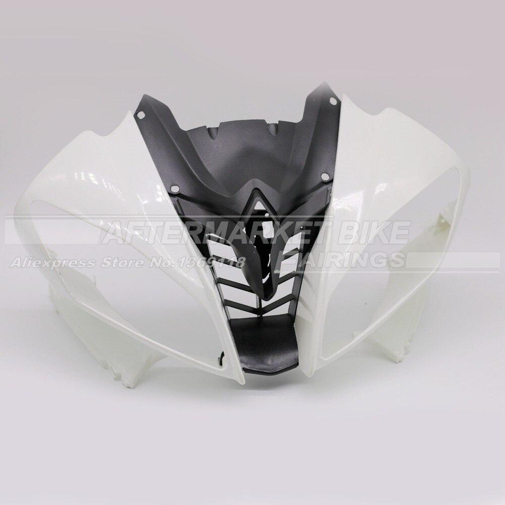 100% Virgin ABS Пластик передний обтекатель головы для Yamaha YZF R6 2008 2009 2010 2011 2012 2013 2014 Верхний обтекатель нос Cowling Новый