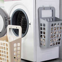 Luxurious Suction Cup Hanging Hamper Dirty Clothes Storage Basket Plastic Storage Basket Large/Middle Size Hollow Laundry Basket