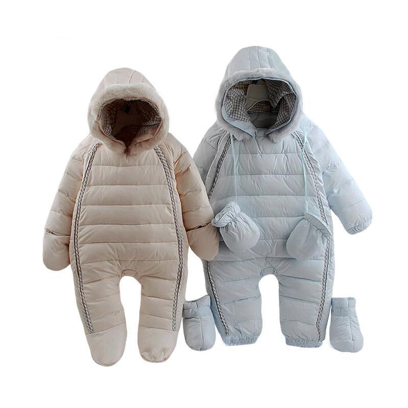 Enfants hiver chaud à capuche salopette vestes combinaison pour filles vêtements bébé garçon snowsuit enfant en bas costume extérieur bébé combinaison