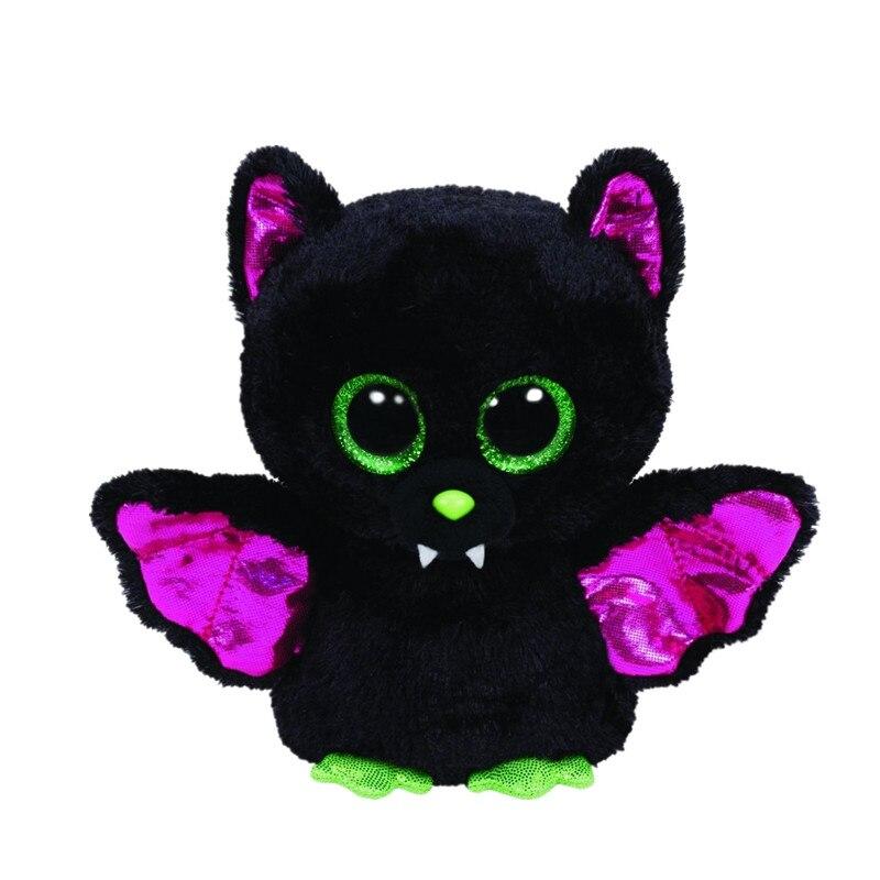 Ty Beanie Боос оригинальный большой Средства ухода для век плюшевые игрушки куклы для детей со дня рождения 10-15 см Черная летучая мышь ty для мале...