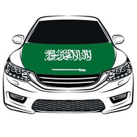 Kingdom of Saudi Arabia Hood Cover,Saudi Arabia Car Hood Cover flag,Engine Flag,100% spandex,Four side projectile fabric