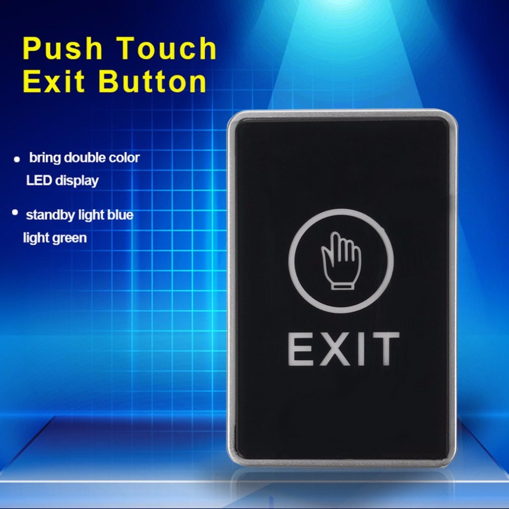LESHP Push Touch Sensor Exit Button Security Access Control System Door Exit Release Button With LED Indicator Light for Home exit wound