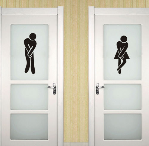 FD2454 Home Decor Craft Stickers Bedroom Toilet Wall DIY Sticker ~Male & Female~