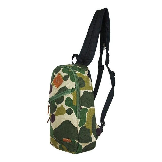 a79c78f1bd8 Moda hombres lona impermeable Militar viaje mochila camuflaje pecho hombro  trekking selva Bolsas