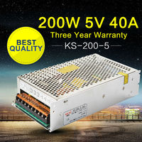 200W 5V 40A Power Supply AC to DC SMPS Switch Power Supply Transformer for LED Display Home Appliances Building Lighting