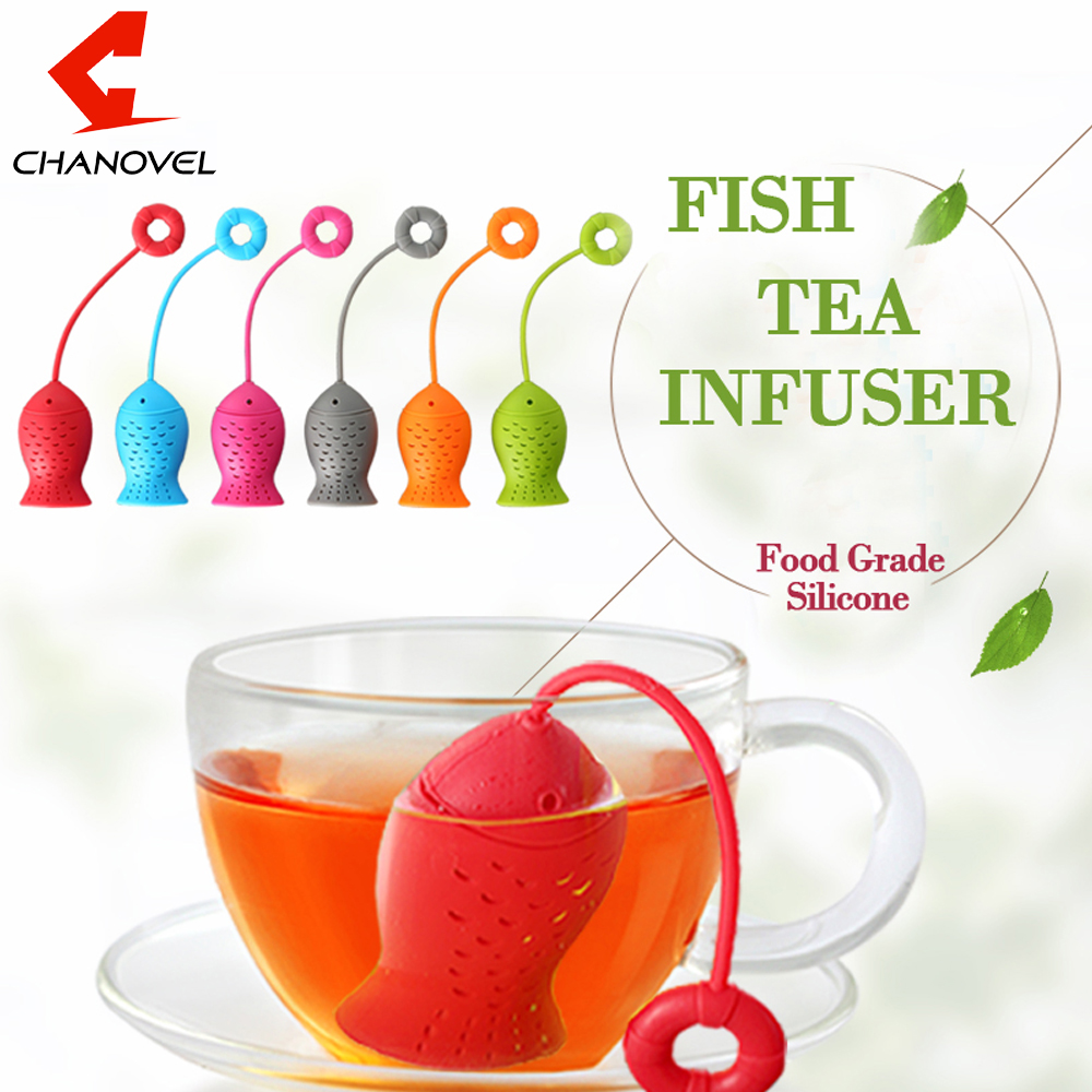 Cute Fish Shape Tea Infuser Silicone Strainers Tea Strainer Spice Herbal Infusor Filter Empty Tea Bags Diffuser Accessories