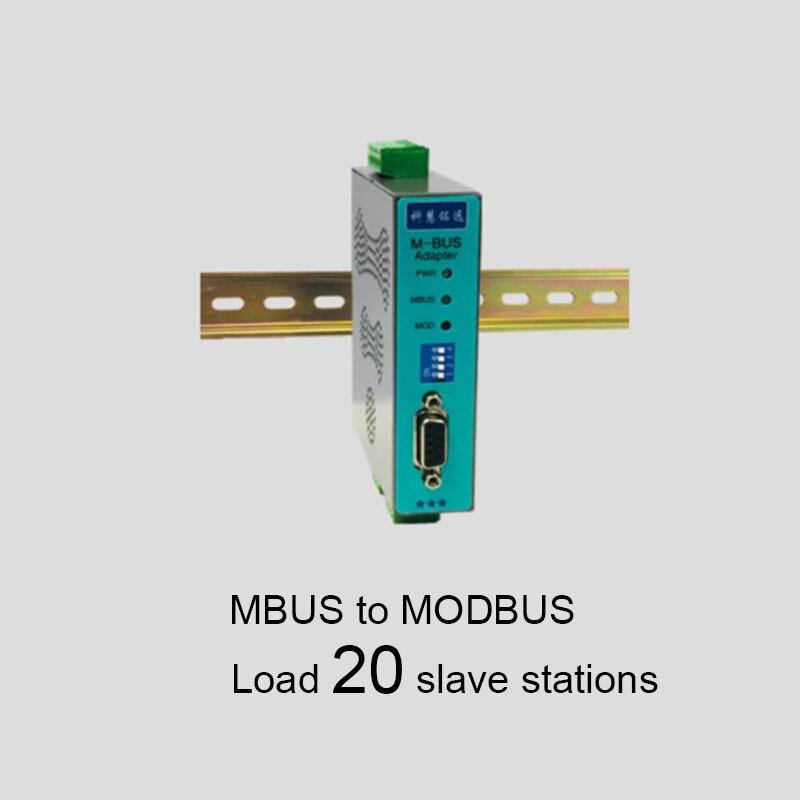 Convertisseur MBUS/M-BUS à MODBUS-RTU RS485/232 (20 charge) KH-MR-M20