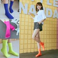 A910 Lady Socks Candy Color Velvet Thin Breathable Summer Socks Free Shipping