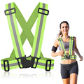 New Reflective Vest Set Outdoor Sports Night Running Jogging Biking Safety Vest Cross Belt Reflective Shoulder Strap Belt