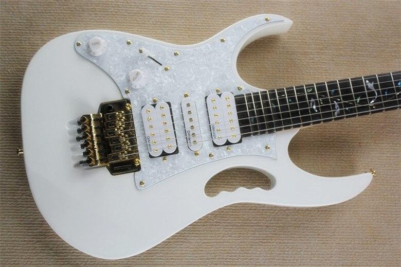 2019 nouvelle usine gaucher arbre de vie incrustations 21 à 24 frettes festonnée guitare électrique blanche avec matériel en or