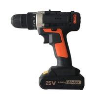 25V 15 Torque Settings Cordless Electric Impact Wrench Kit Drill Screwdriver 1/2Pcs Battery Li Battery Hand Drill Power Tool