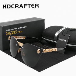 HDCRAFTER Fashion Lady Gothic Eyewear Metal Skull Frame sunglasses Women Sun Glasses Oculos de sol UV400
