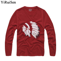 Wholesale YiRuiSen Brand Clothing Long Sleeve T Shirt Men 2016 Indian Fashion T Shirt 100 Cotton
