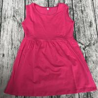 Wholesale Boutique Children Wearing Dress Beautiful Baby Knit Cotton Dress Baby Girl Party Dress