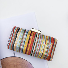Women Messenger Bag Rainbow Evening Bag Day Clutches New Wallet Colorful  Stripe Luxury Handbag Casual Shoulder 95892cdaad20