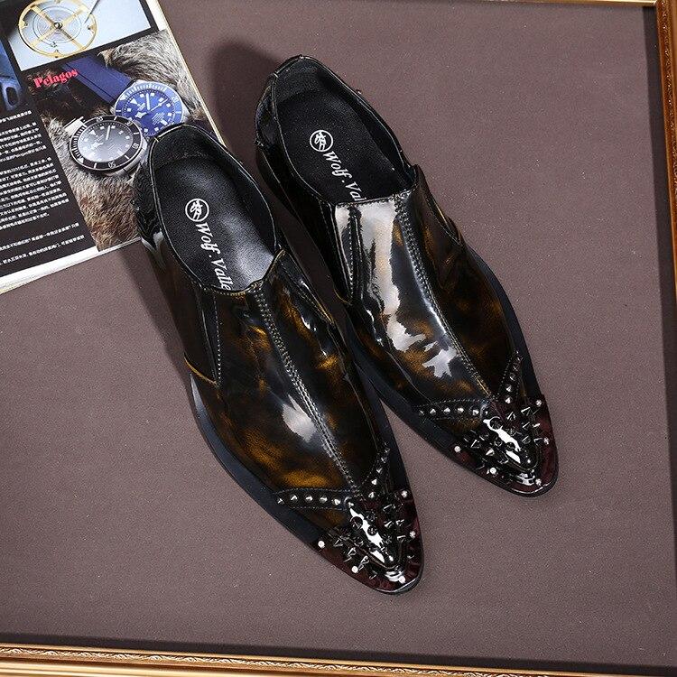 Europa E De Casual Homens New Unidos Grosso Estados Business Nos Sapatos Couro England Masculinos Vestido Luxo Dos IXIvAxR