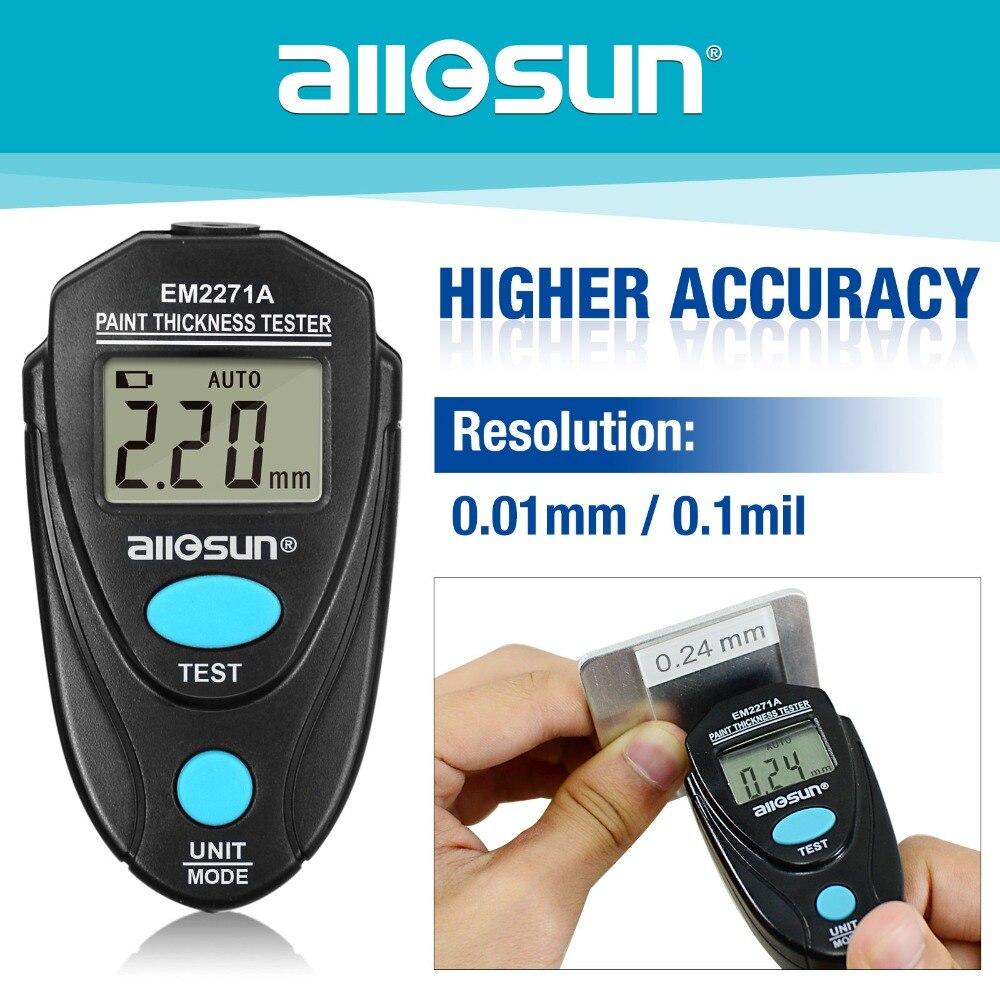 Digital Calibro di Spessore di Rivestimento Tester Fe/Misuratore di Spessore di NFe 0.00-2.20mm per Auto Manuale Russo EM2271A tutti i -sun