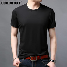 COODRONY T Shirt Men Classic Casual O-Neck Tshirt Summer Cool Solid Color Short Sleeve T-Shirt Cotton Tee Homme S95136