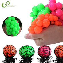 Squeeze Toy Mesh-Ball Grapes Fruity-Play Anti-Stress In-Sensory Practical Jokes Novelty