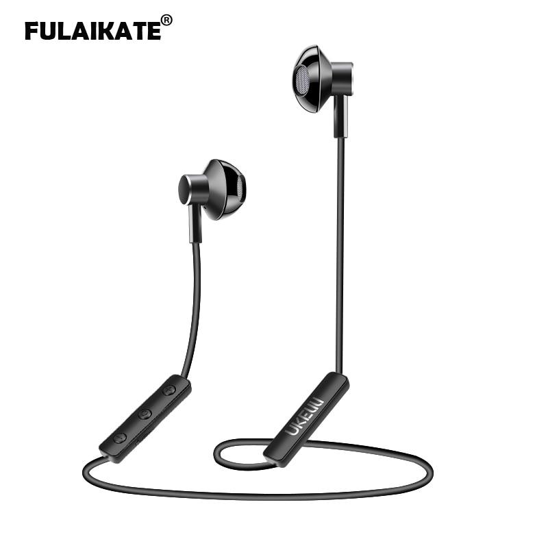 Fulaikate Sport Neckband Bluetooth Headset For Smart Phone Wireless Running Earphone Stereo Music Multipoint Aluminum Earpiece Bluetooth Earphones Headphones Aliexpress