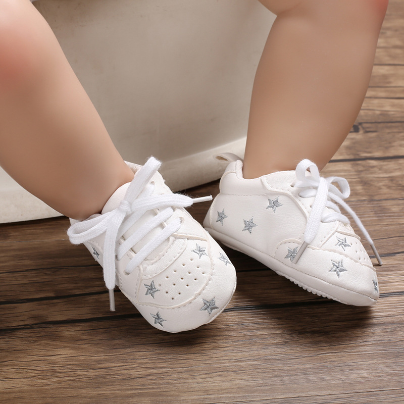 E&Bainel Baby Shoes Newborn Boys Girl First Walkers  Infant Toddler PU Leather Soft Sole Anti-slip Shoes For 0-18 Months Baby