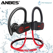 ANBES U13 IPX7 Водонепроницаемый наушники стерео Bluetooth наушники Беспроводной Спорт бас наушники с микрофоном для Xiaomi iphone