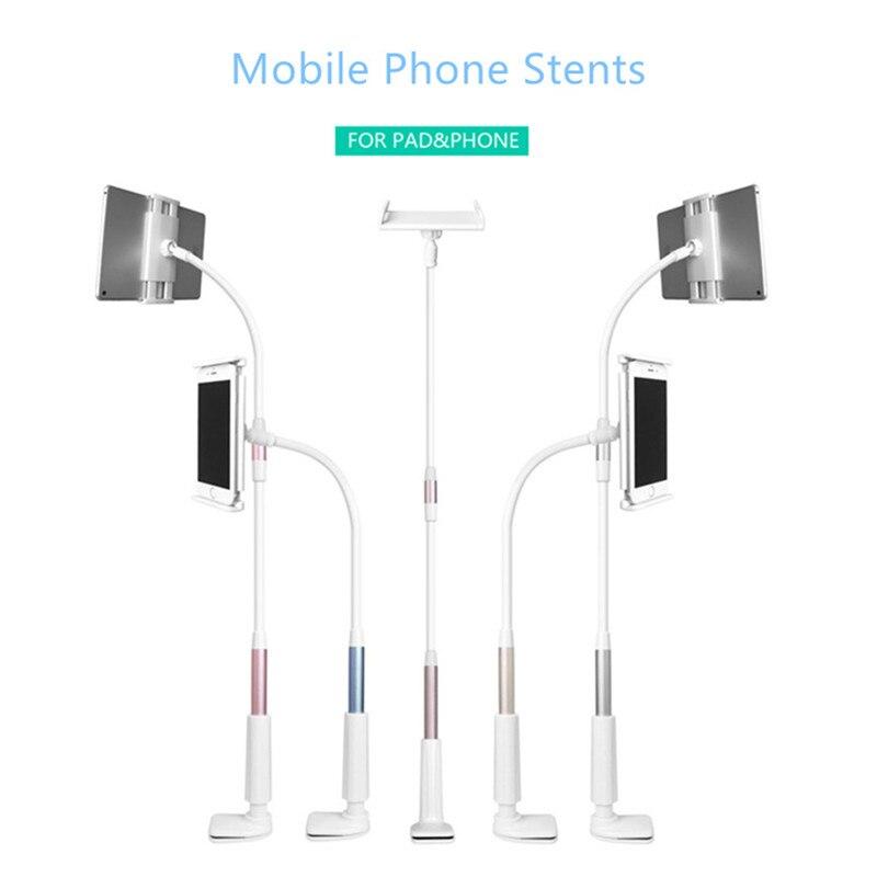 imágenes para Brazo Flexible de 360 grados soporte para teléfono móvil soporte de 127 cm de Largo Perezoso personas Cama Escritorio Teléfono y Teclado montaje de la tableta para 3.5-10.5 pulgadas