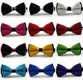 Nuevos 2016 pajarita masculina de Moda pajaritas para los hombres casados el novio de color la decoración del bloque del bloque de color de la mariposa del arco corbata bowknot