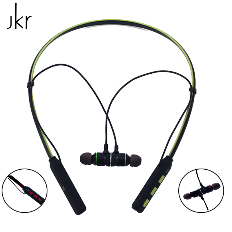 Original JKR-301A Bluetooth Earphone Wireless Sport Headset Neckband earphones with Mic Stereo Earbud For iPhone Samsung Xiaomi original remax neckband sport earphone s8 wireless bluetooth headset bluetooth 4 0 magnet earphone for iphone x 8 samsung xiaomi