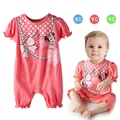 Baby Girl's Jumpsuit Short Sleeve Cartoon Cute Mouse Newborn Baby Girl's Romper Body suit Clothes 0-24M 12817