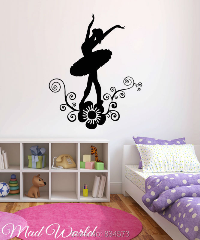 Compare prices on ballerina wall mural online shopping for Ballerina wall mural