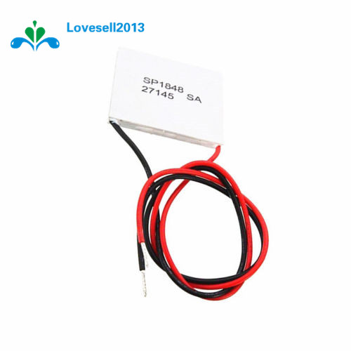 SP1848-27145 TEC 40x40mm Semiconductor Thermoelectric Heatsink Cooler Peltier Plate Module For Power Generation