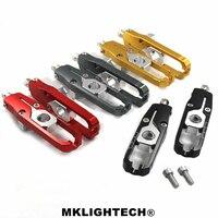 MKLIGHTECH For Honda x adv 750 xadv x adv 2017 2018 Chain Adjusters Tensioners CNC Aluminum For honda motorcycle chain adjuster
