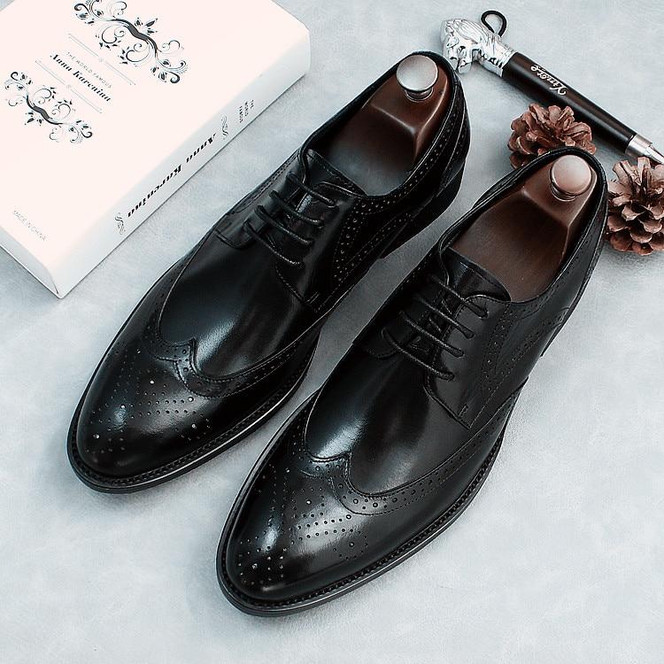 4ad950dcc71d Vestito Up Business 2018 Lace Da L uomo 4 Oxfords Borgues Scarpe 2 Sposa  Intagliato Per ...