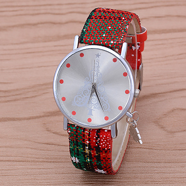 Christmas Gift Watch Genuine Leather Quartz Movement Resistant Watch Women Dress Men Sports Famous Brand Watch relogio &Ff