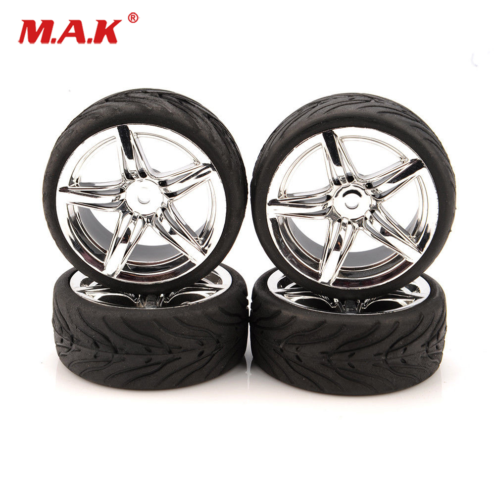 4pcs/set  1/10 On Road Tires And Hex 12mm Wheels Rims For RC 1:10 Touring Car 12FC