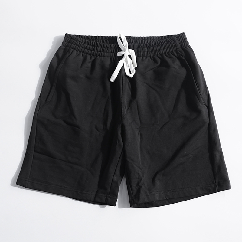 New Arrivals Mens Plus Size Casual Summer Beach Shorts Solid Black Sweatpants Male Fitne ...