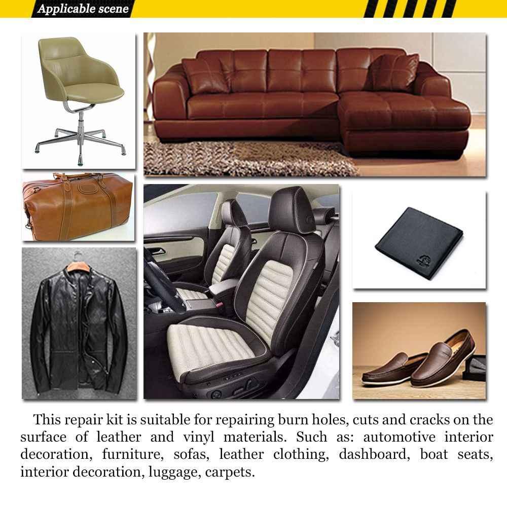 Leather Upholstery Repair >> Diy Sofas Car Seat Leather Upholstery Hole Burns Holes No Heat Liquid Vinyl Fix Rips Furniture Glue Repair Tool Kit Home