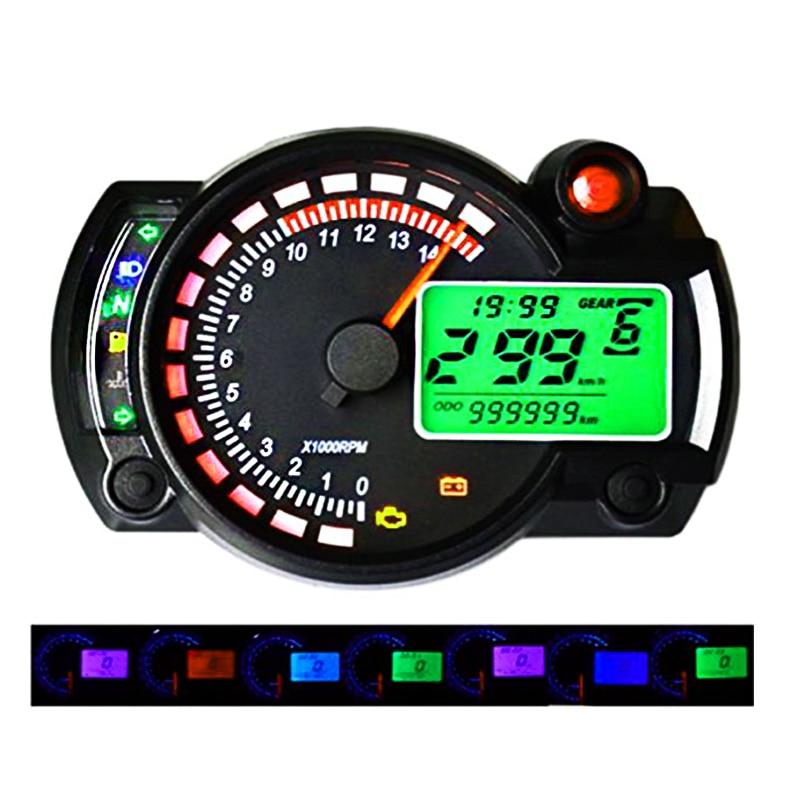 Diagram Motorcycle 7 Color Universal Lcd Digital Speedometer