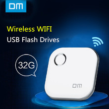 Dm WFD015 sin hilos del Usb Flash Drives 32 GB WIFI para el iPhone / Android / PC Smart Pen Drive de memoria Usb multijugador con parte