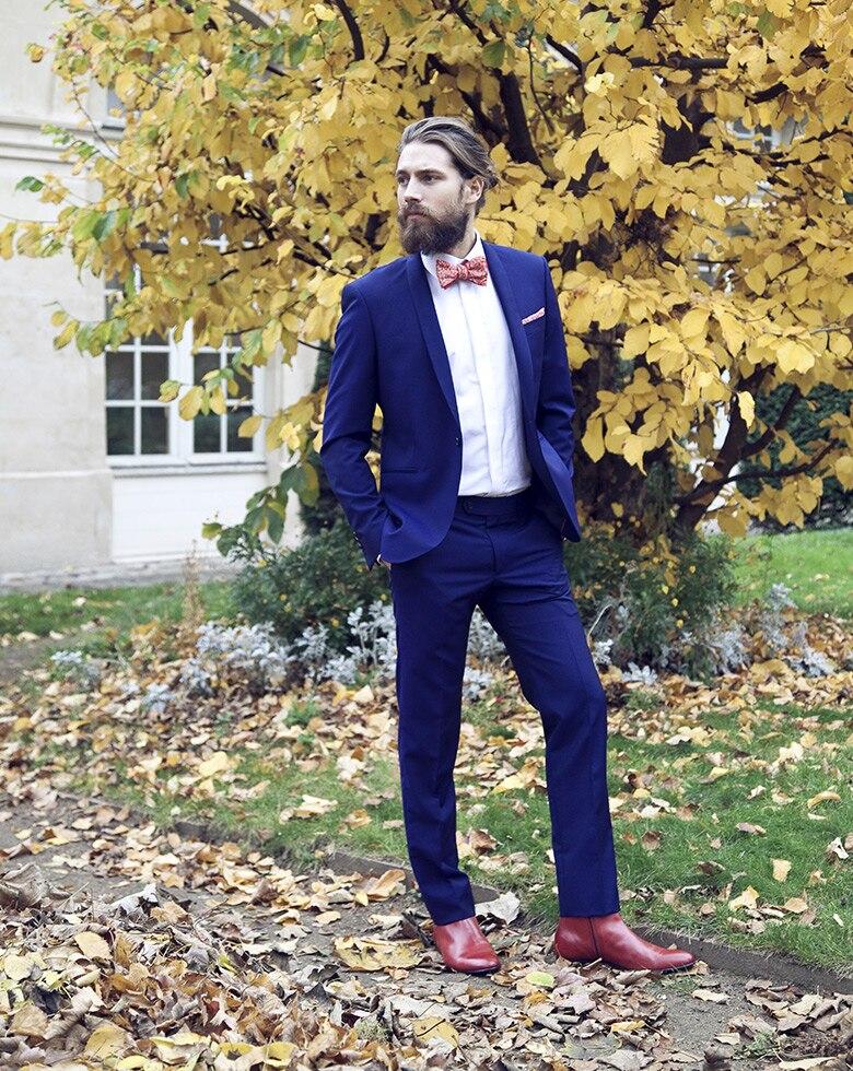2017 Dernière Manteau Pantalon Designs Bleu Royal De Mariage Costumes Pour  hommes Slim Fit Skinny Marié Smoking 2 Pièce Blazer Masculino veste +  Pantalon ... d78ca77f15b