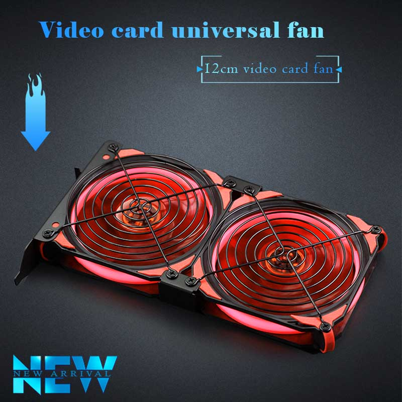12cm Universal GPU 2 /3 Combination Fan, Ultra-quiet PCI Video Card Dual Cooler Computer Chassis PCI-e Graphics Card Cooler