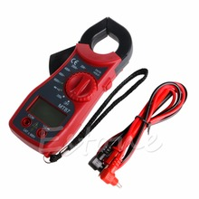 Digital LCD Clamp Multimeter AC DC Voltmeter Ammeter Ohmmeter Tester Meter New 2017 mastech m266c digital clamp meter voltmeter ohmmeter acvoltage ac current resistance temp tester detector with diode multimeter