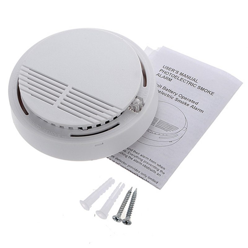 New Wireless Natural Smoke Detector Home Security Fire Gas Alarm Sensor Safely System Cordless For House Security System wireless smoke fire detector smoke alarm for touch keypad panel wifi gsm home security system without battery
