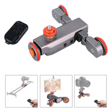 Mcoplus Autodolly Wireless Remote Motorisierten elektro Track Slider Dolly 3-rad Auto DSLR Video Riemenscheibe Roll Skater kamera