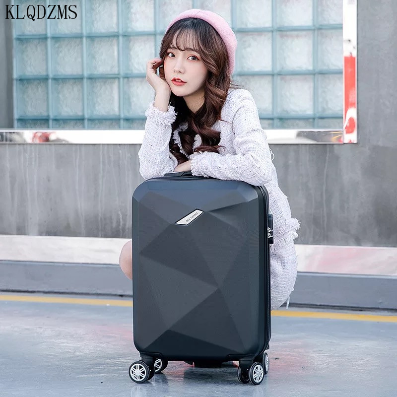 KLQDZMS 20/24inch Travel Suitcase  Rolling Luggage Sets Spinner Trolley Case Woman Cosmetic Bag Carry-on Luggage  On Wheels